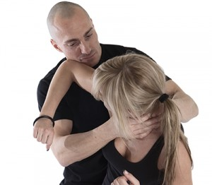 womens self defense rear choke